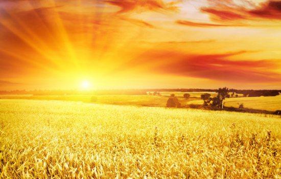 A nap fénylő sugarai