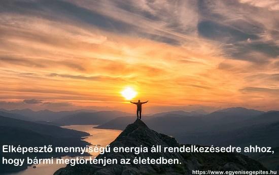 A rendelkezésedre álló energia
