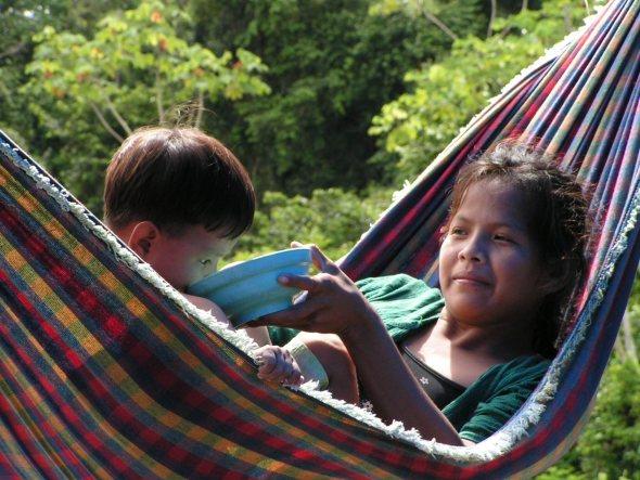 Az araona indiánok földjén a Manuparé folyón