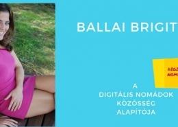 Ballai Brigitta, a digitális nomádok csoportjának vezetője