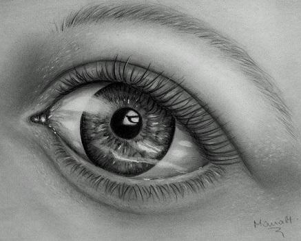 Mária Madarász szem rajz